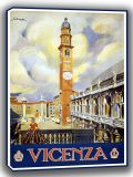 Vicenza. Vintage Travel/Tourism Canvas. Sizes: A4/A3/A2/A1 (002743)